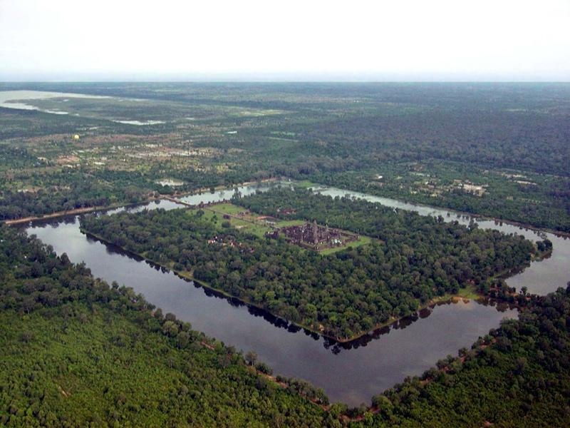 Le Temple d'Angkor vu du ciel