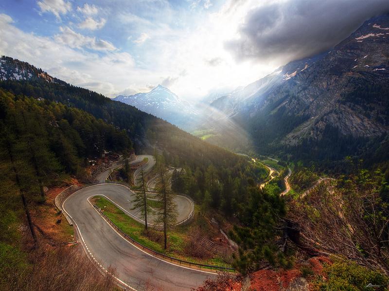Le col de la Maloja, Suisse