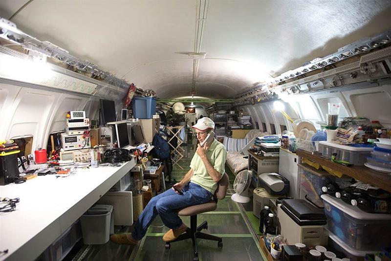 habiter dans un boeing 727
