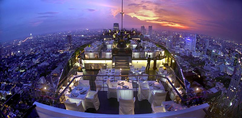 bar sur le toit du Bayan Tree Hotel à Bangkokbar sur le toit du Bayan Tree Hotel à Bangkok
