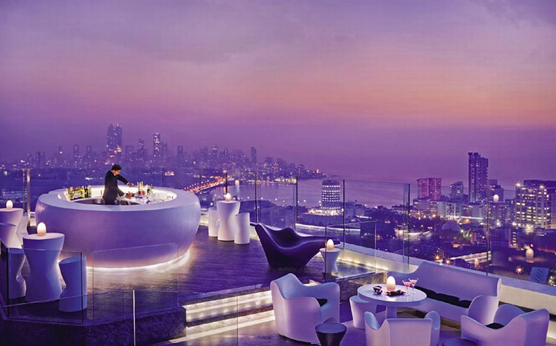 bar du Four Seasons à Mumbai en Inde