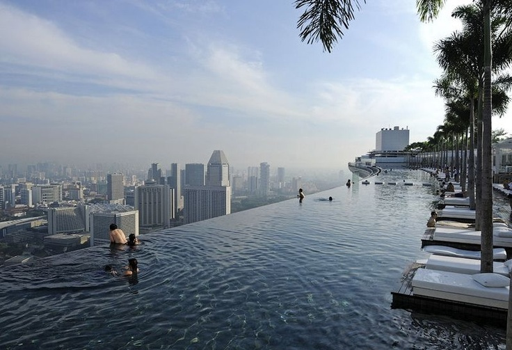piscine à débordement du Marina Bay Sands à Singapour