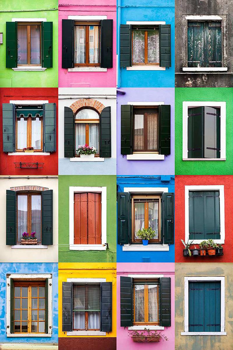 variété de fenêtres