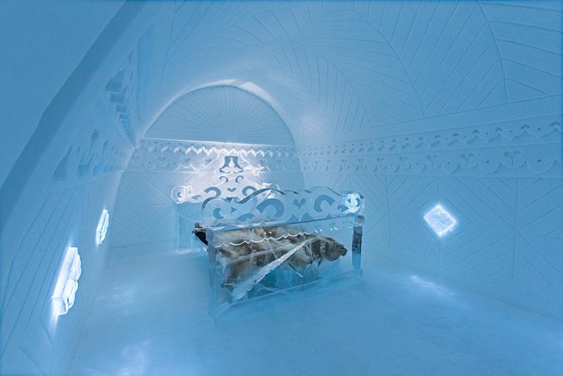 hôtel de glace à Jukkasjärvi