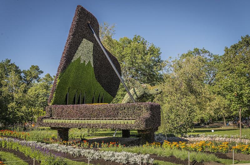 Sculptures végétales à l'exposition d'art horticole de Montréal