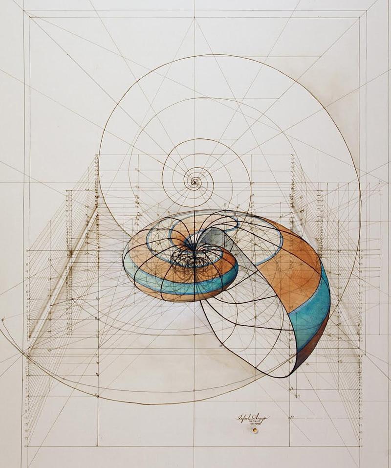 L'architecture de la vie dessinée au crayon par Rafael Araujo