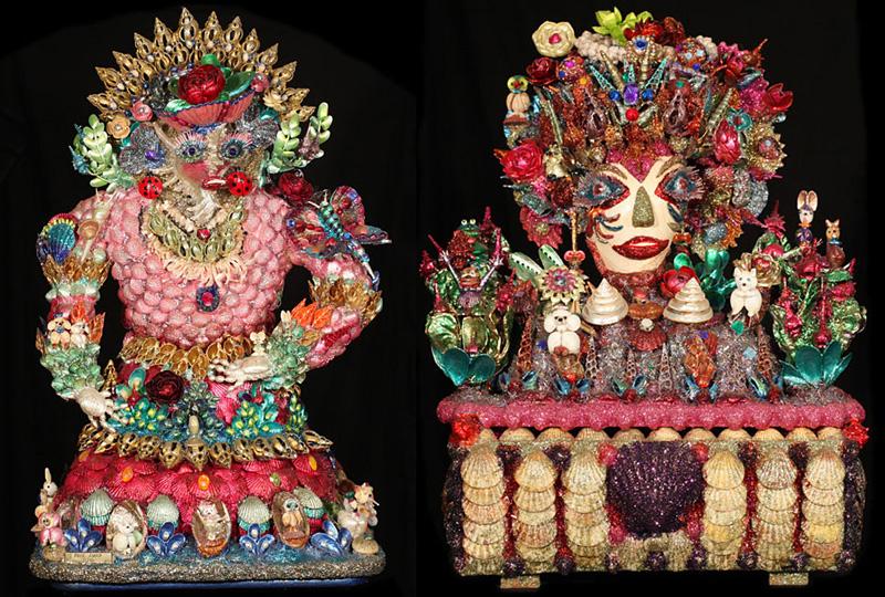 Tableaux et sculptures en coquillages de Paul Amar