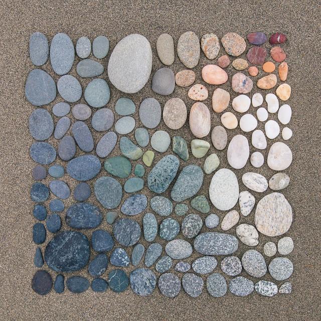 Dégradés de couleurs avec des objets du quotidiens par Emily Blincoe