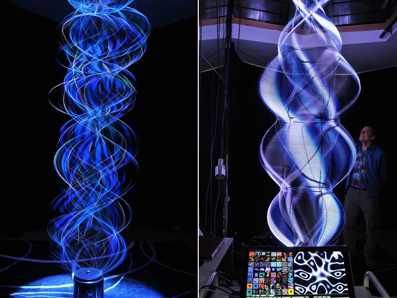 sculpture lumineuse cinétique de Paul Friedlander