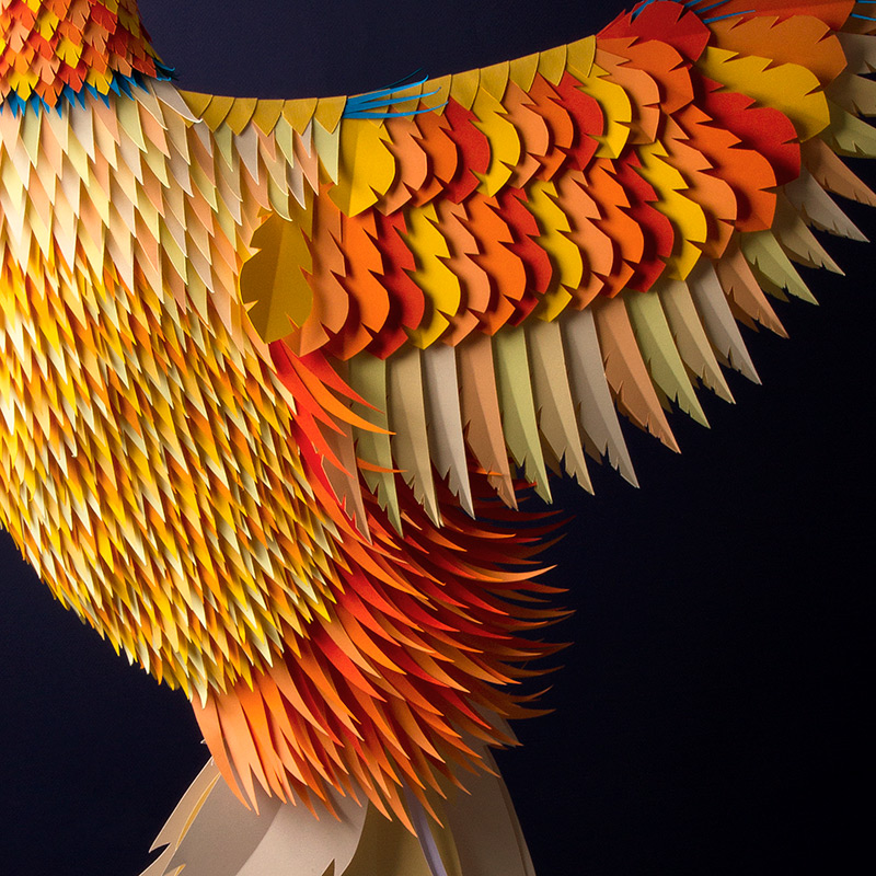 sculpture de papier de Zim & Zou