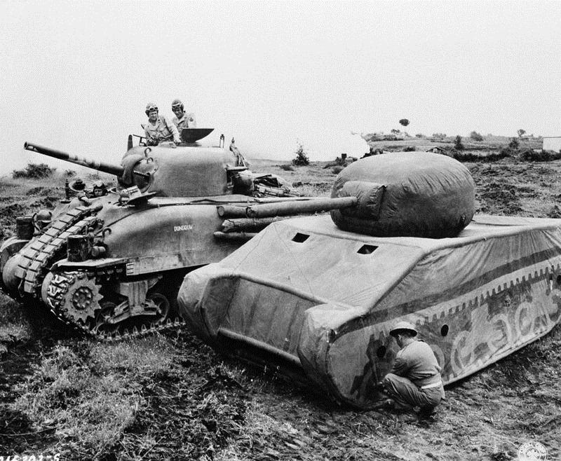 armée factice américaine lors de la Seconde Guerre Mondiale