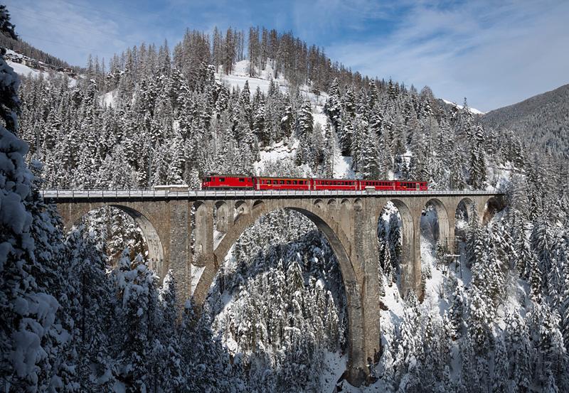 Viaduc de Wiesen en hiver