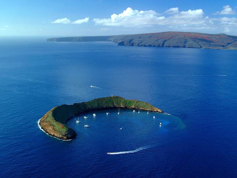 Le cratère de Molokai à Hawaii