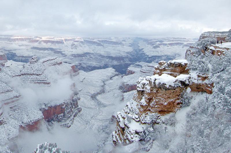 Grand Canyon recouvert de neige