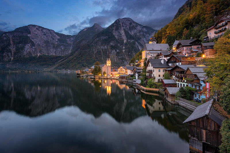 village Hallstatt en Autriche