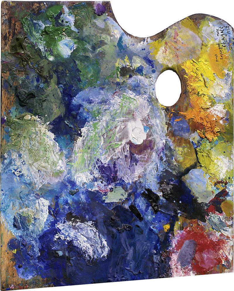 palette d'artiste peintre célèbre