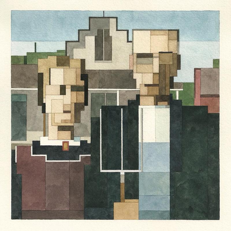 Aquarelles au style 8-Bit de peintures célèbres