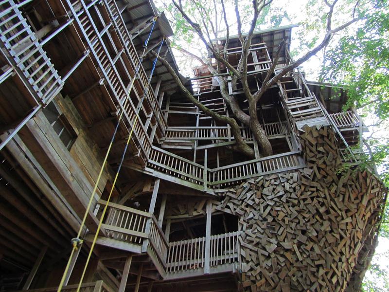 Cabane dans les arbres la plus grande du monde par Horace Burgess