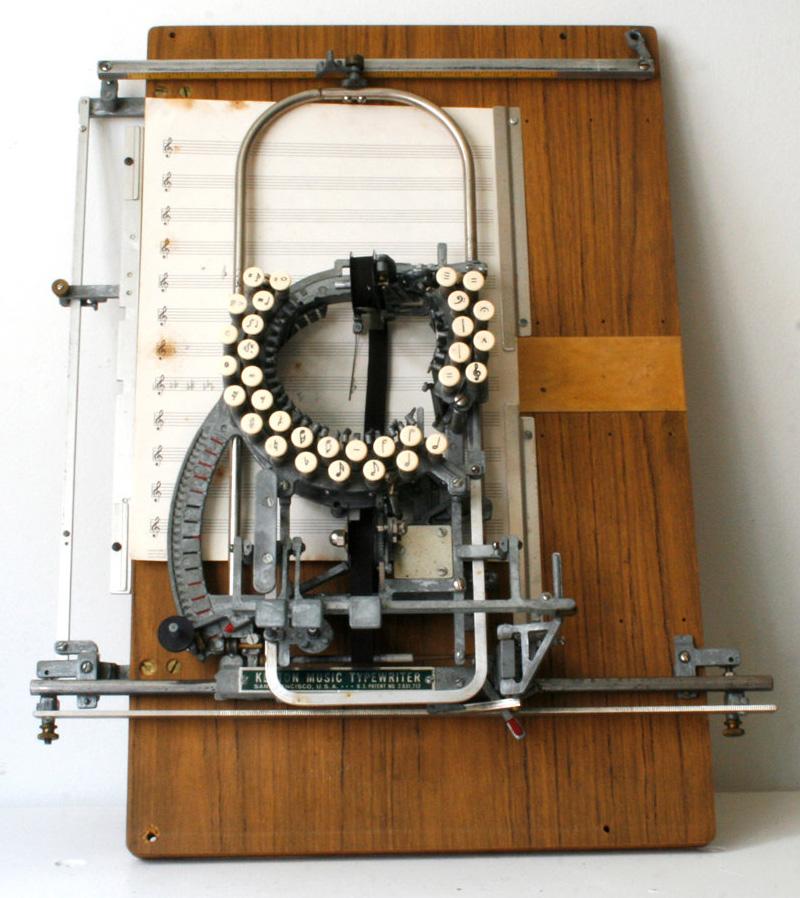 La machine à écrire de la musique