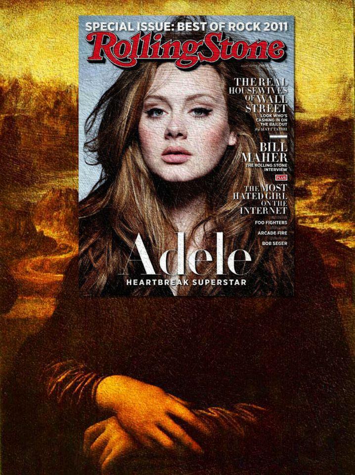 Mash Up d'une couverture de magazine avec une peinture classique