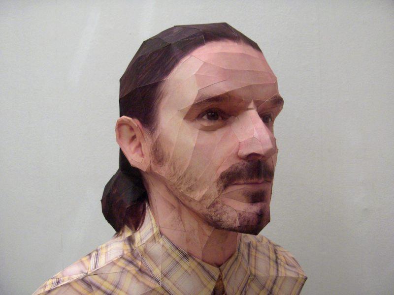 portraits 3D réalistes en papier par Bert Simons