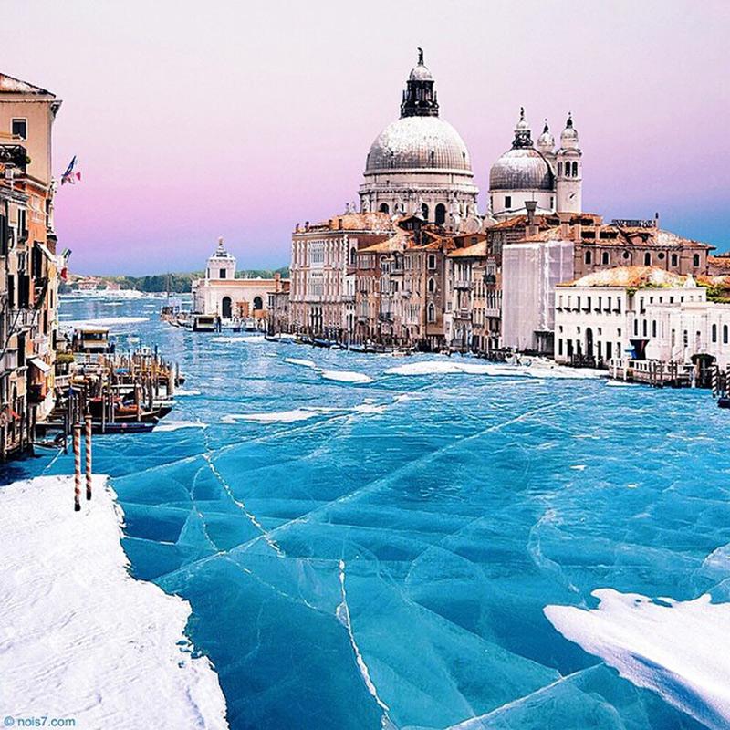 Venise prise par la glace