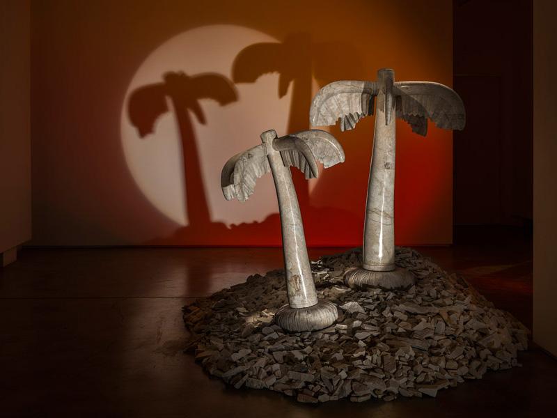 Sculpture en marbre hyperréaliste d'Alex Seton