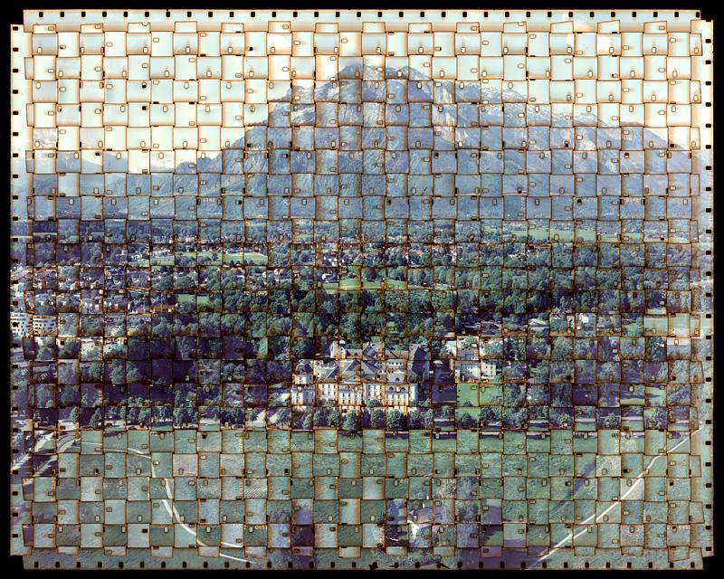 Photos fragmentées composées à partir de bandes de films