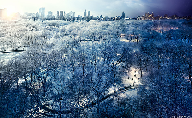 Central Park en hivers, New York