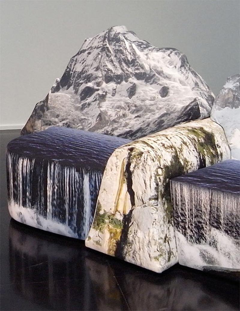 canapé en forme de montagne