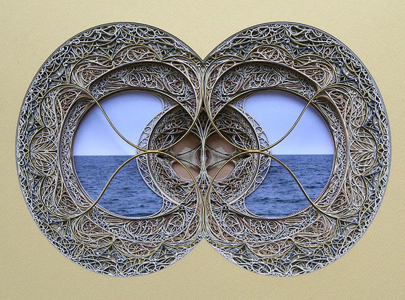 vitraux en papier