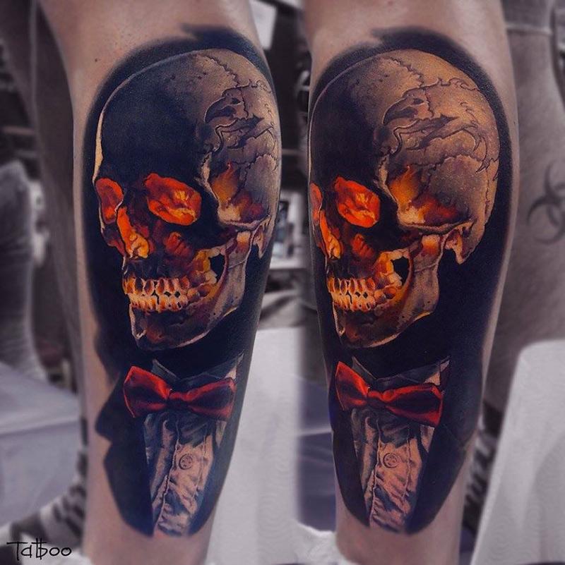 tatouage de portrait réaliste par Valentina Ryabova