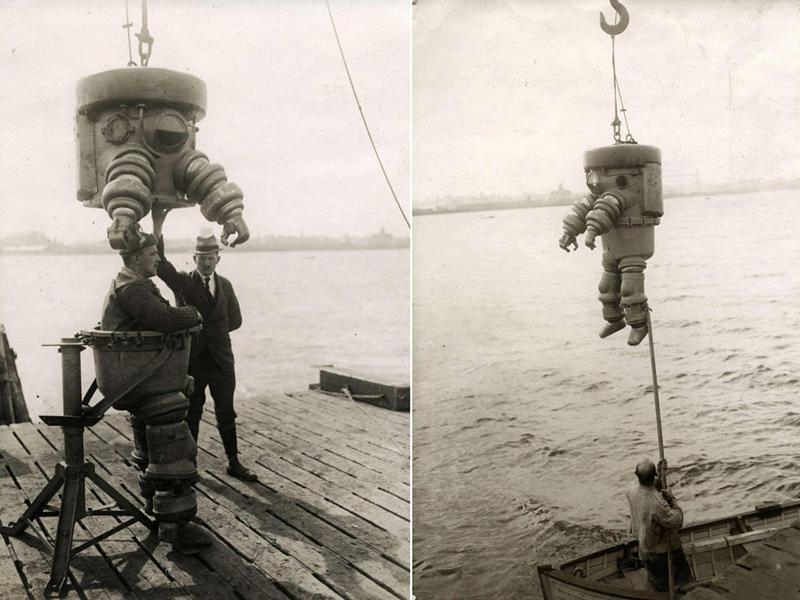 Scaphandre de 1922 fabriqué par la société Neufeldt & Kuhnke de Kiel en Allemagne