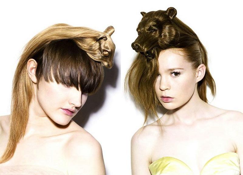 coiffure  en forme d'animal