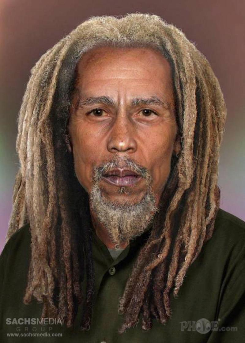 portrait vieilli de Bob Marley