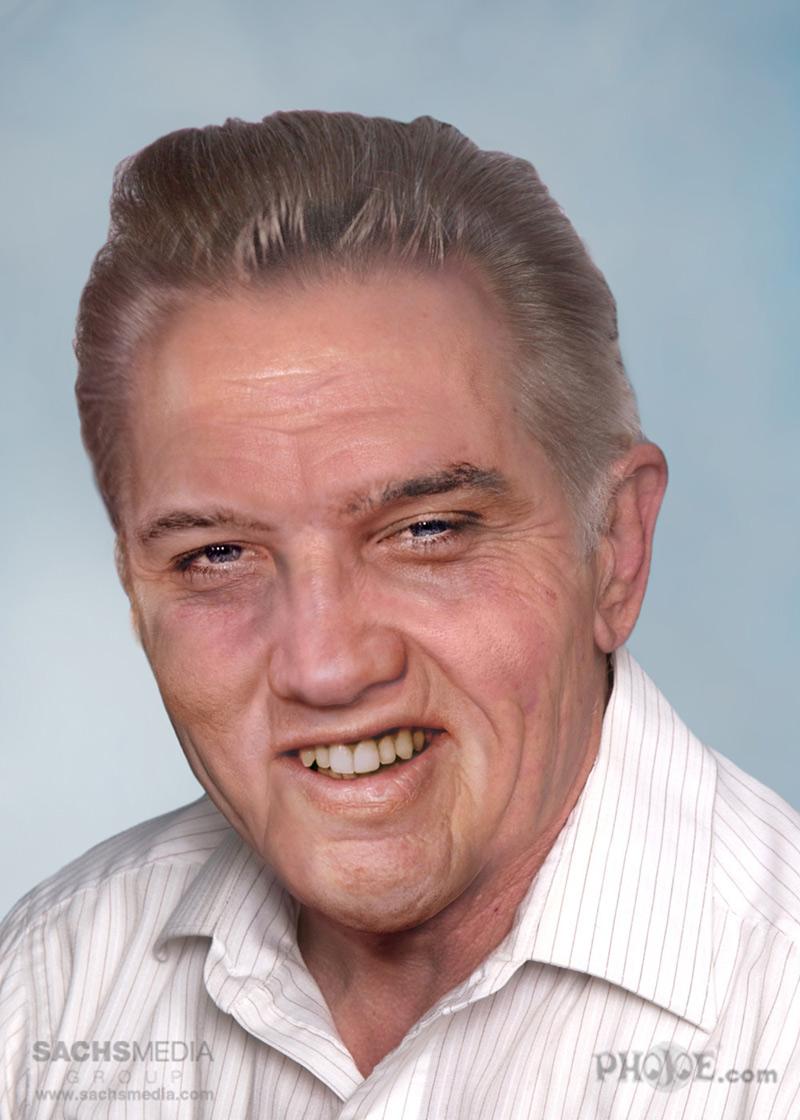 portrait vieilli d'Elvis Presley