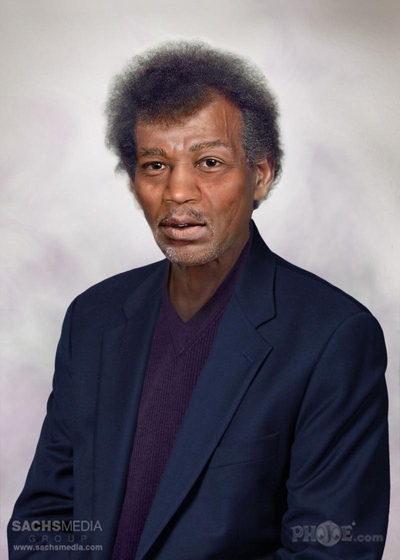 portrait vieilli de Jimi Hendrix