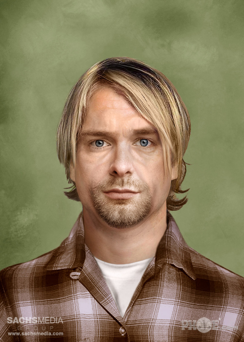 portrait vieilli de Kurt Cobain