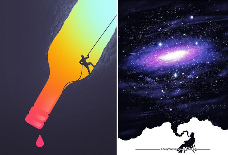 Illustration surréaliste par Tang Yau Hoong