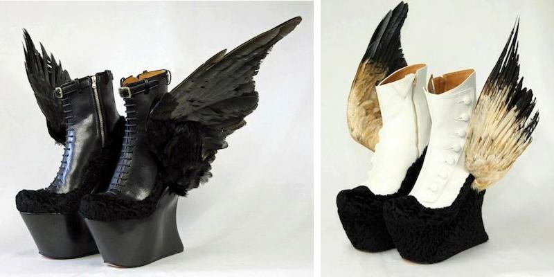 chaussures aux motifs de poulet