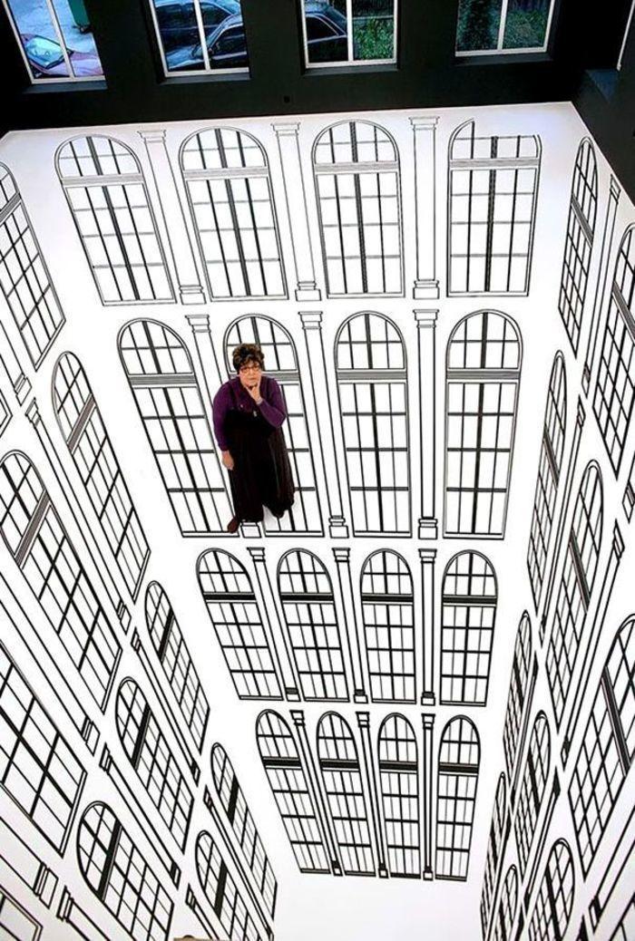 Illusion d'optique par Regina Silveira