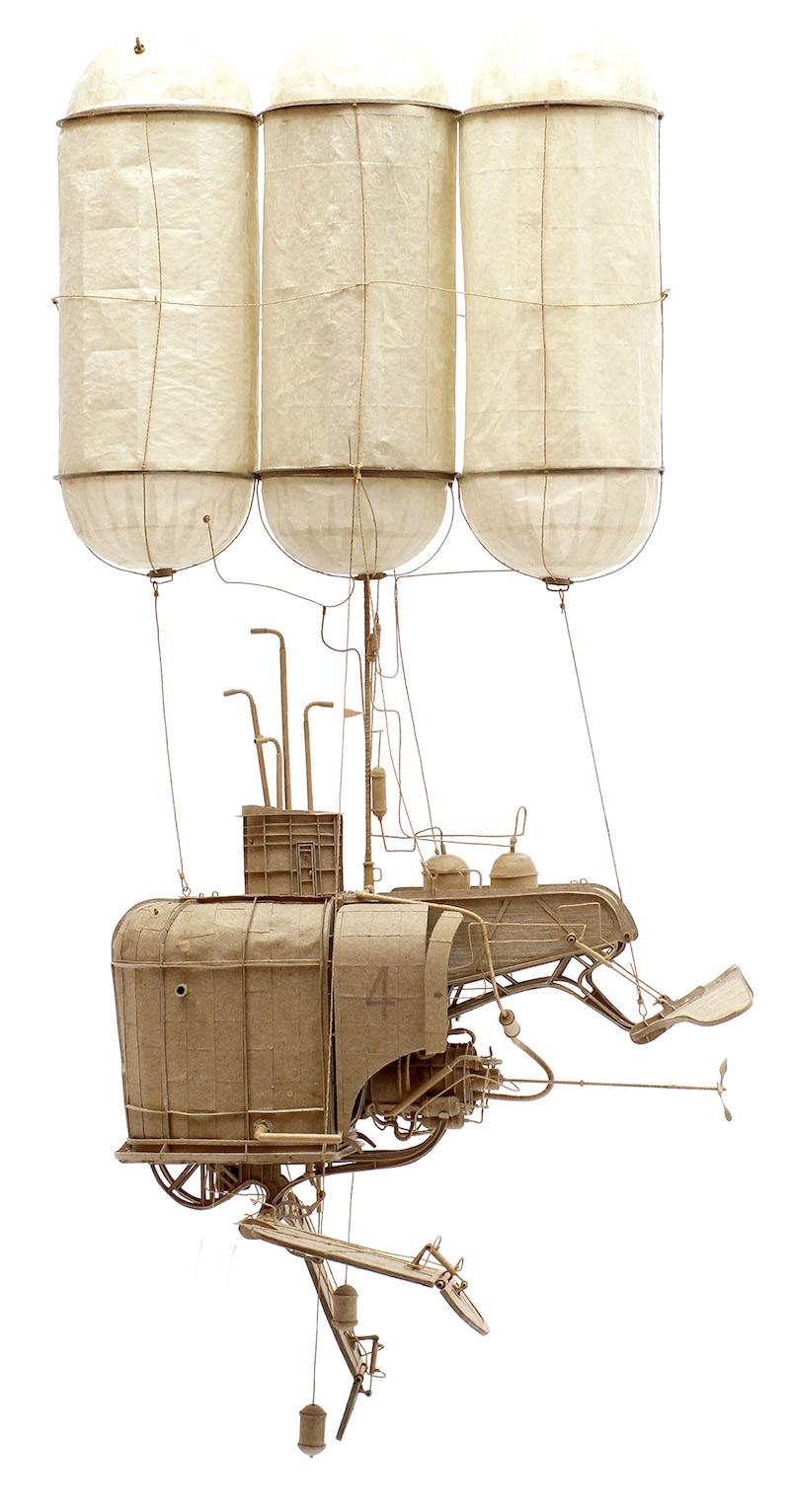 sculpture en carton de Daniel Agdag