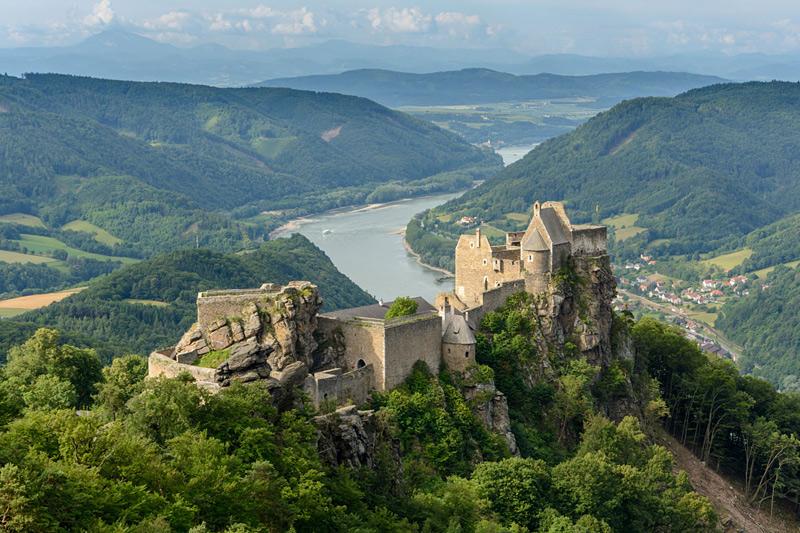 Ruines du château d'Aggstein en Autriche