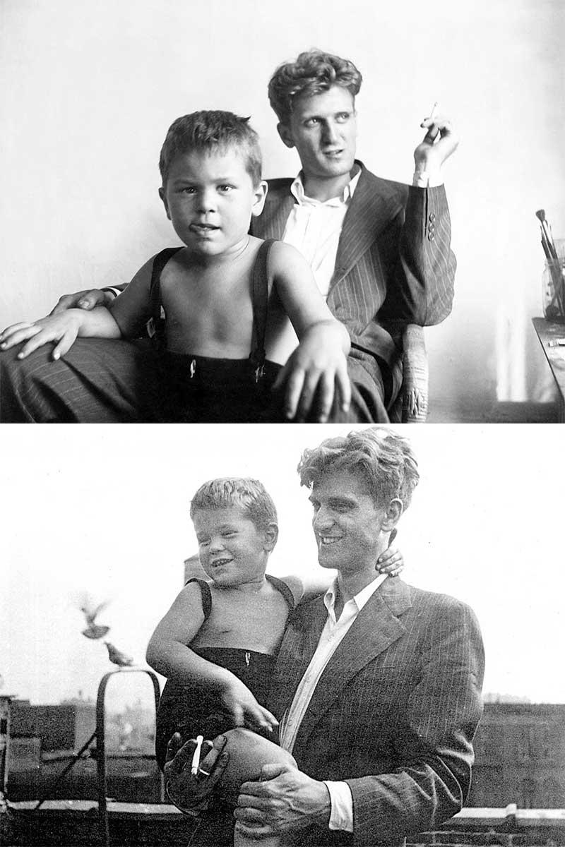 Robert De Niro père et fils en 1946