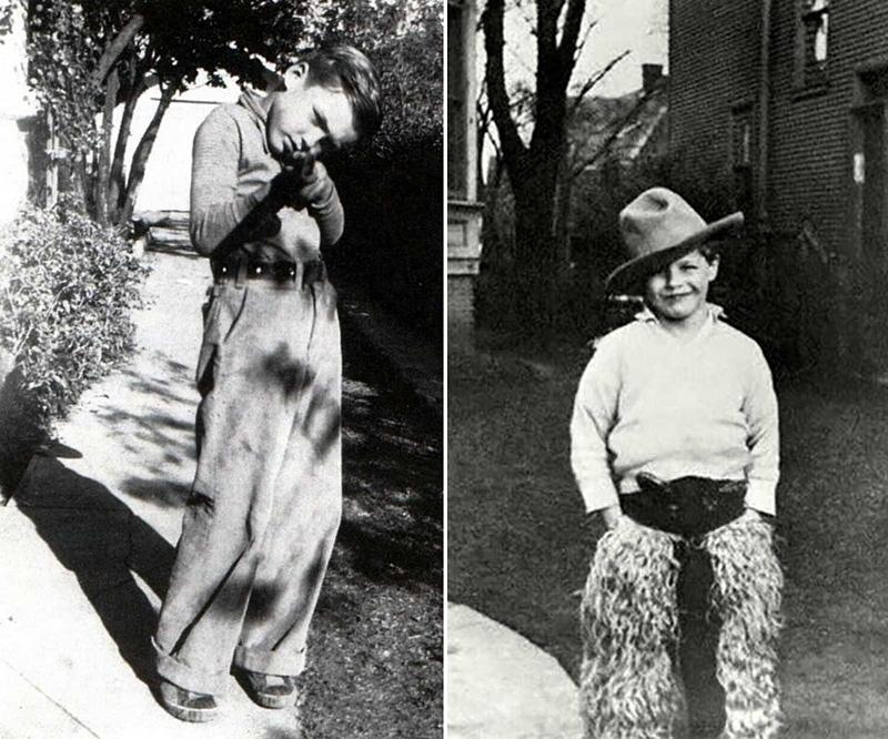 Clint Eastwood et Marlon Brando jeunes