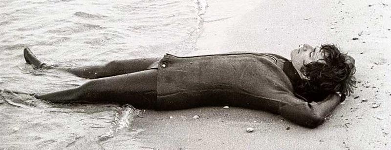 Steven Spielberg lors du tournage du film Les Dents de la mer