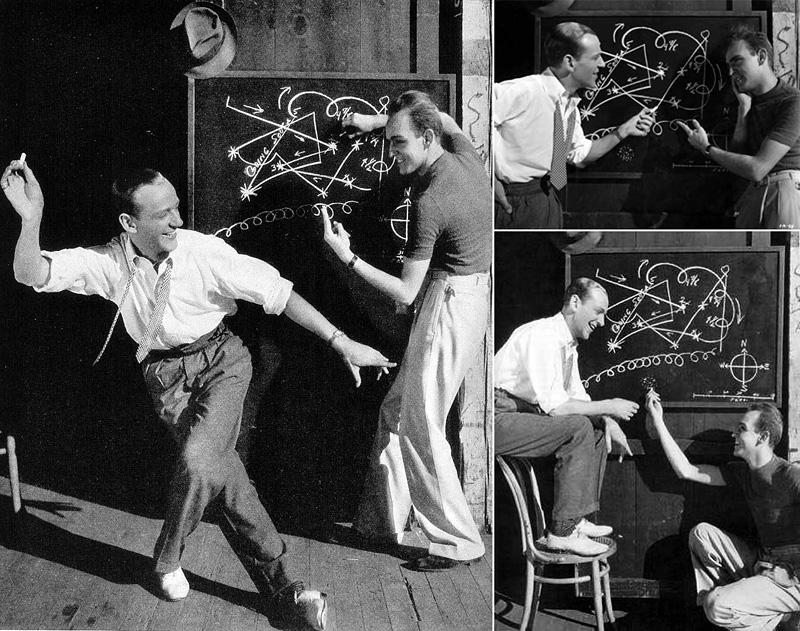 Fred Astaire avec son collaborateur chorégraphique Hermes Pan