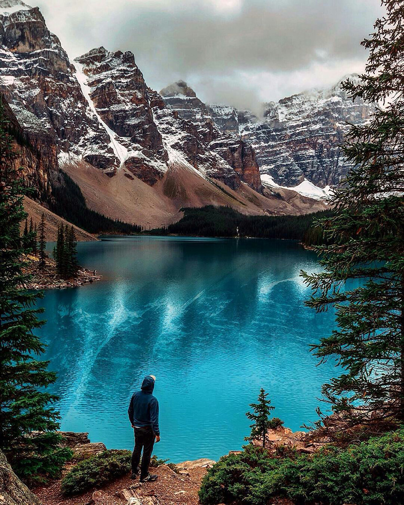Lac Moraine au Canada