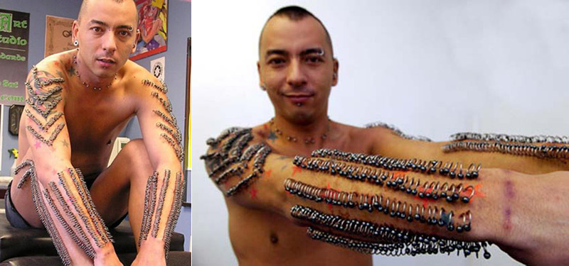 Kam Ma et ses 1015 piercings posés en une seule séance