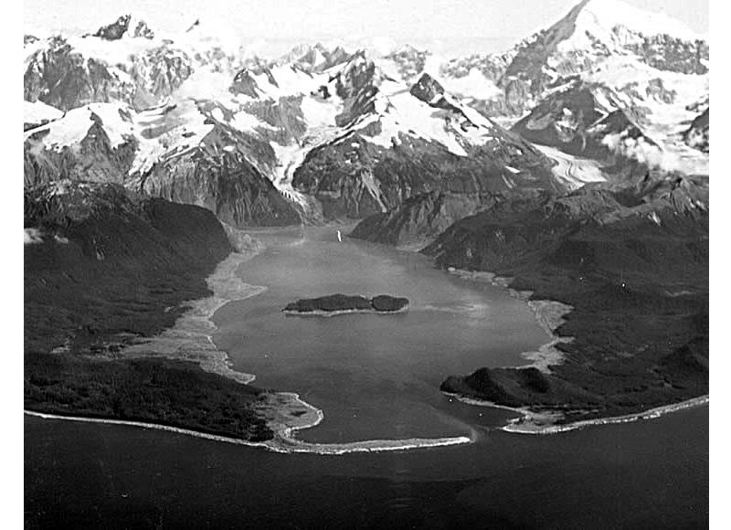 mégatsunami de 1958 de la baie Lituya suite à un glissement de terrain